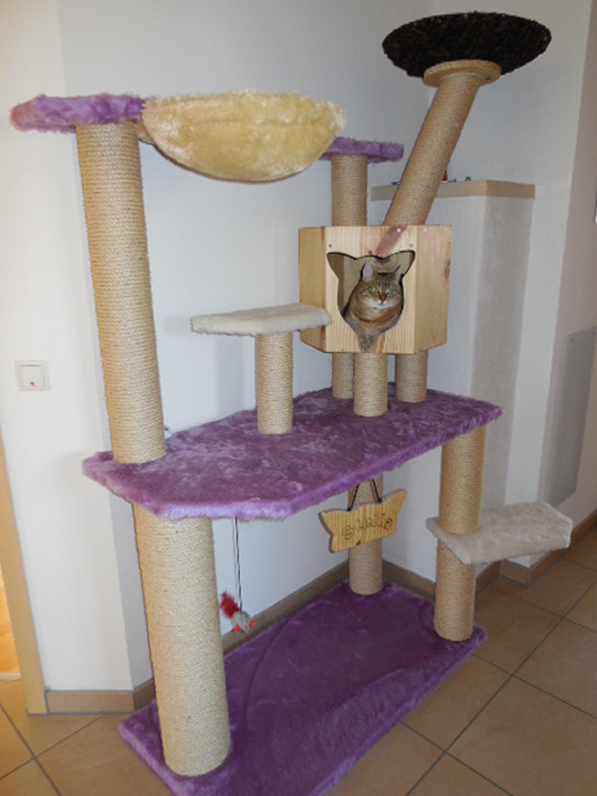 kratzbaum gross lila. Black Bedroom Furniture Sets. Home Design Ideas