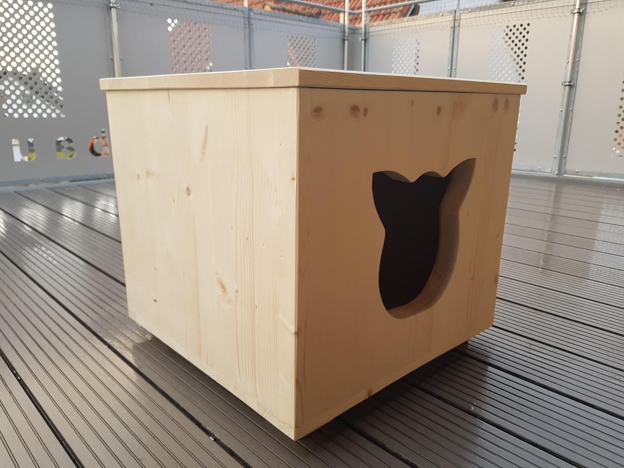 holzh hle katzenh hle schlafplatz f r katzen kratzbaumzubeh r. Black Bedroom Furniture Sets. Home Design Ideas