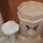 Holzhöhle für Katzen Kratzbaum stabil massiv Rassekatzen