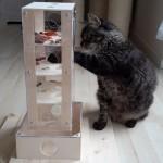 Intelligenzturm Spiel für Katzen massiv Kratzbaum