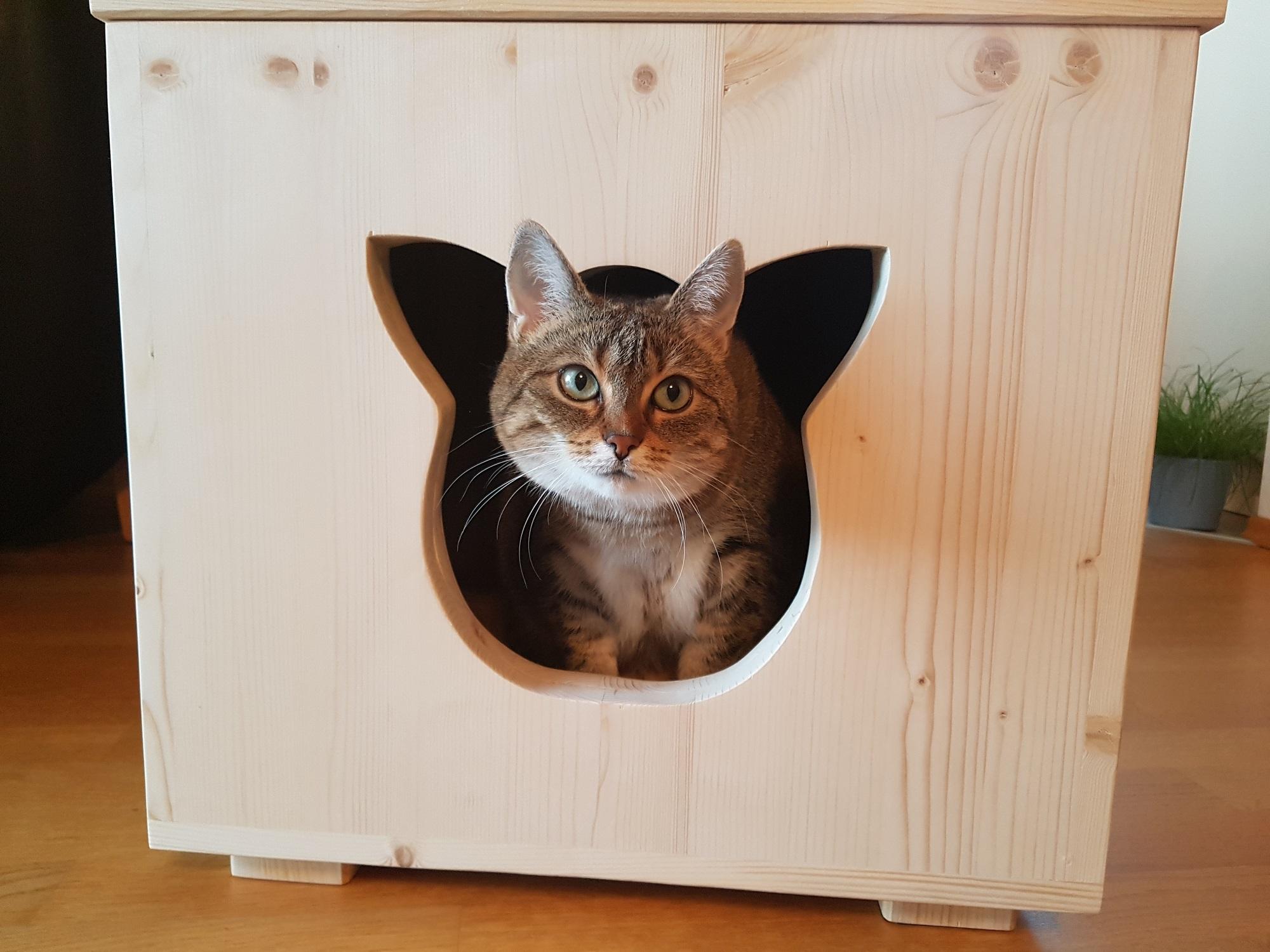 katzenhaus f r au en outdoor haus f r katzen und hunde. Black Bedroom Furniture Sets. Home Design Ideas