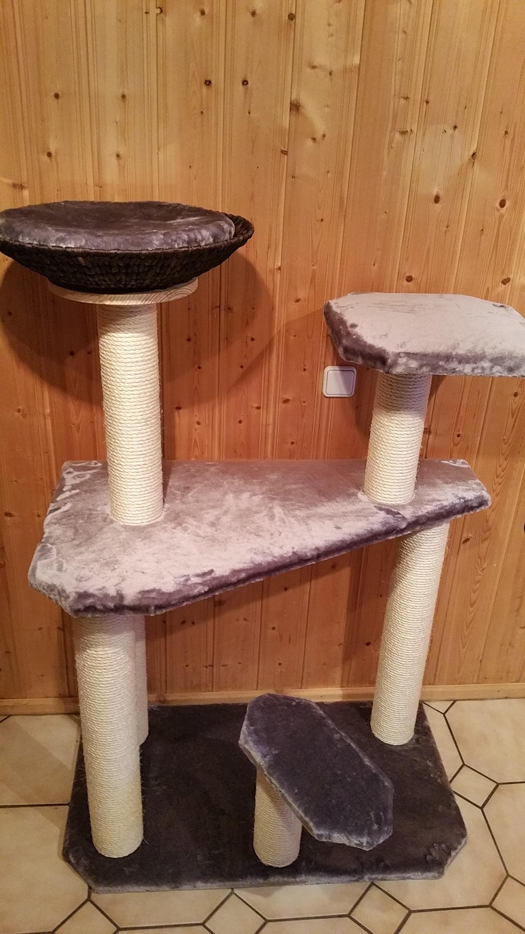 kratzbaum massiv katzenbaum liegemulde f r katzen sisalst mme. Black Bedroom Furniture Sets. Home Design Ideas
