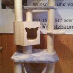 Kratzbaum massiv für große Katzen XXL Stämme Liegekorb für Katzen stabiler Kratzbaum