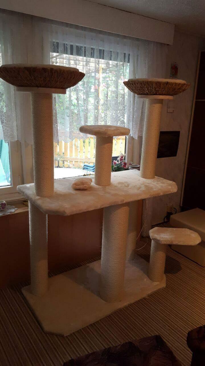 kratzbaum nach ma liegemulden f r katzen massive sisals ulen sisalseil. Black Bedroom Furniture Sets. Home Design Ideas