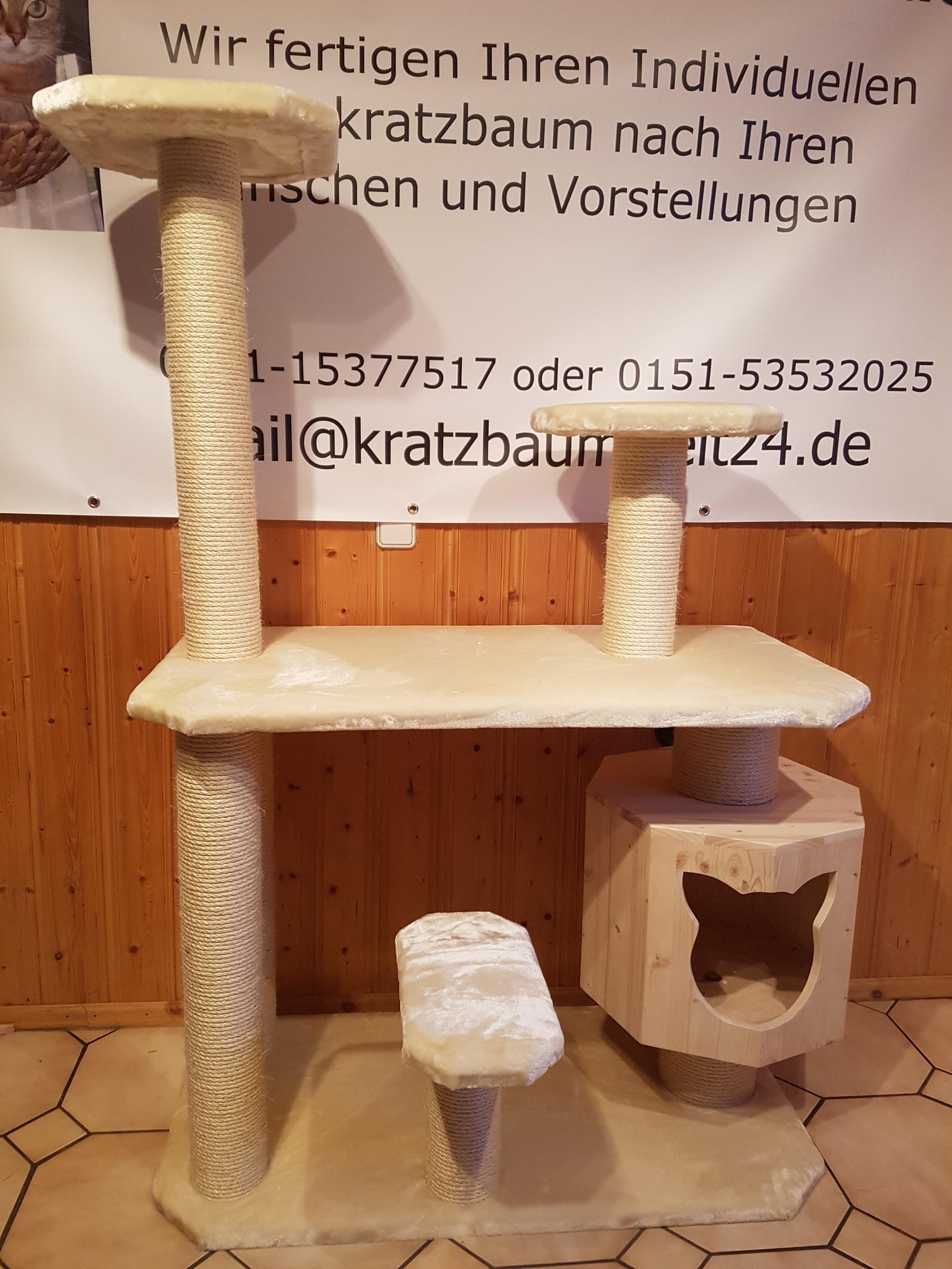 kratzbaum nach ma gefertigt h hle f r katzen kuschelbettchen liegemulde. Black Bedroom Furniture Sets. Home Design Ideas