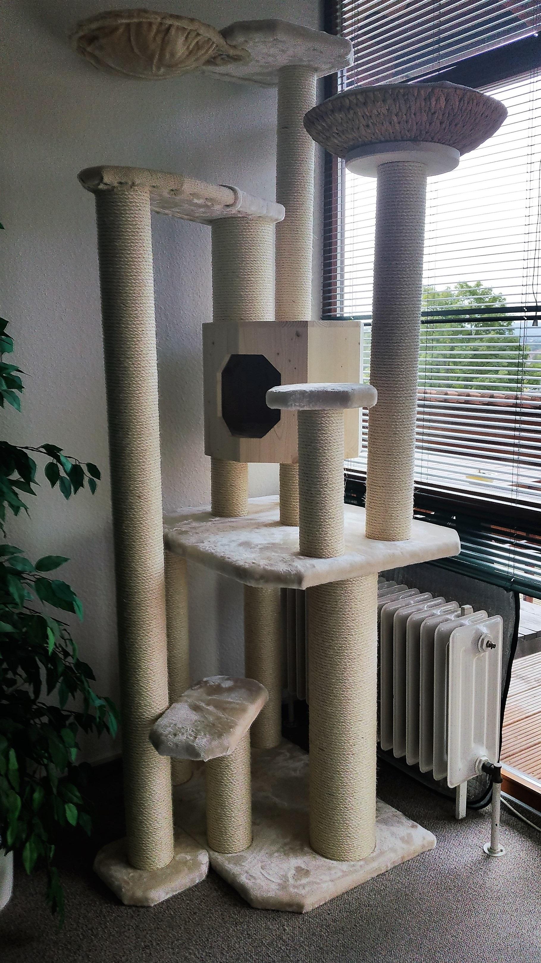 naturkratzbaum kratzbaum grosse katzen massiv stabil. Black Bedroom Furniture Sets. Home Design Ideas