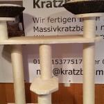 Stabiler Kratzbaum massiv Kratzbrett für Katzen Liegemulden