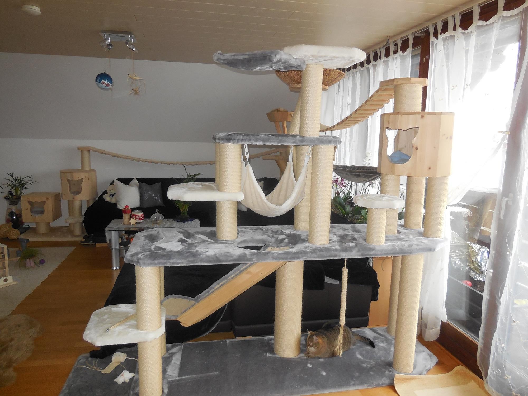 kratzbaum xxl grosse katzen kletterlandschaft f r katzen. Black Bedroom Furniture Sets. Home Design Ideas