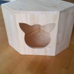 Holzhöhle für Katzen massiv