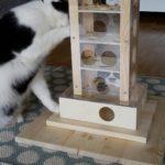 Katzenzubehör, Intelligenzspielzeug, Fummelturm, Fummelspiel, Spielzeug für Katzen