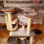 Kratzbaum mit Liegeflächen Liegemulden Liegeschalen Hängematte