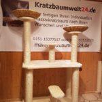 Kratzbaum mit Liegeschalen für Katzen