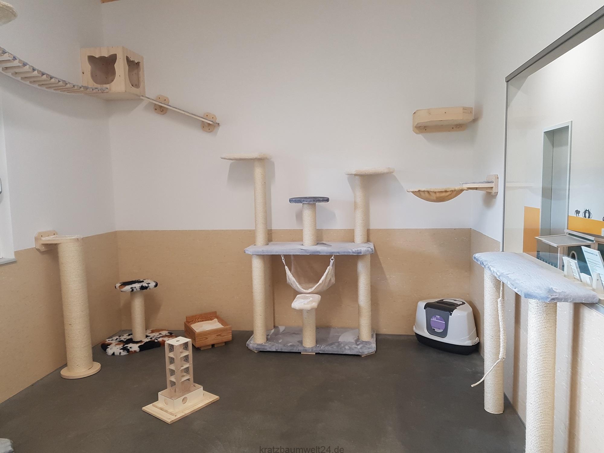 kittenzimmer kletterlandschaften f r katzen h ngebr cke. Black Bedroom Furniture Sets. Home Design Ideas