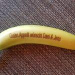 Gravur auf Obst