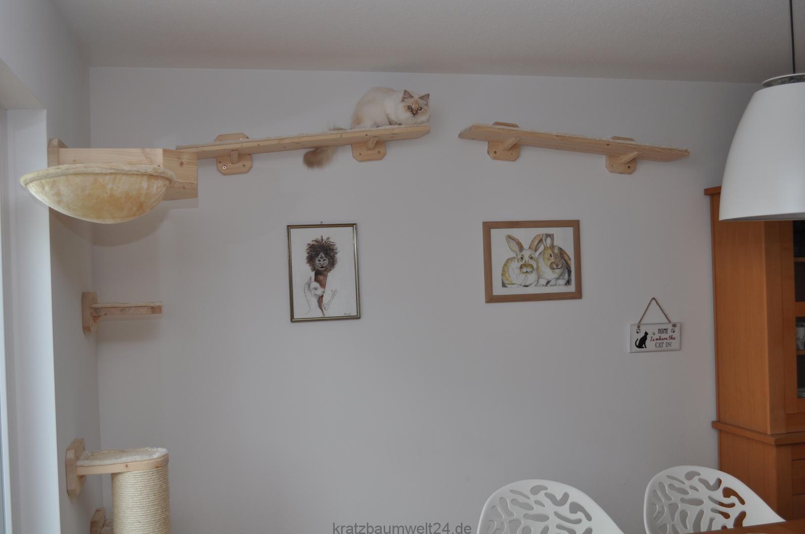 catwalk f r katzen liegemulde f r katzen wandkratzbaum. Black Bedroom Furniture Sets. Home Design Ideas