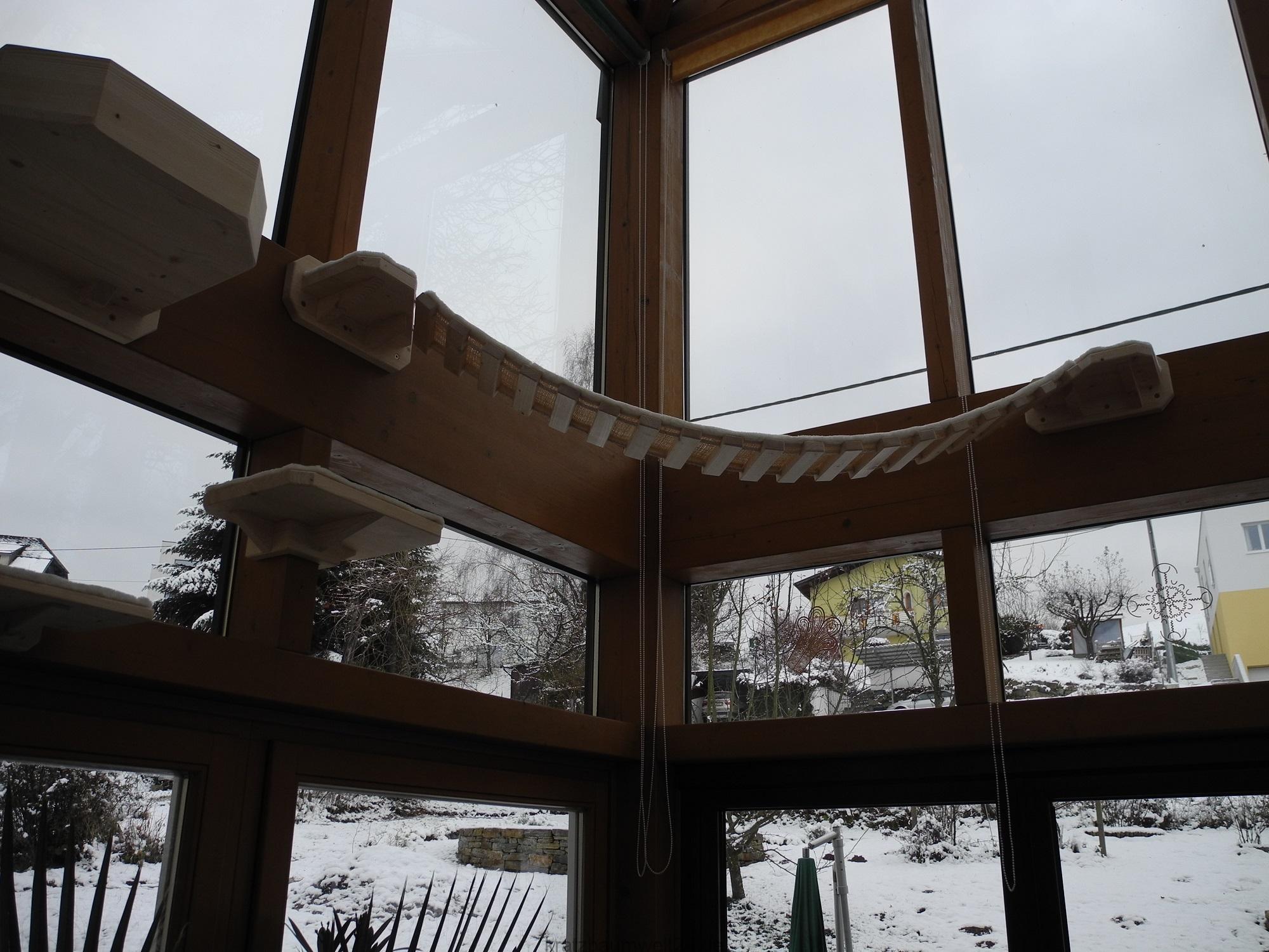catwalk f r katzen wintergarten gestaltung f r katzen. Black Bedroom Furniture Sets. Home Design Ideas