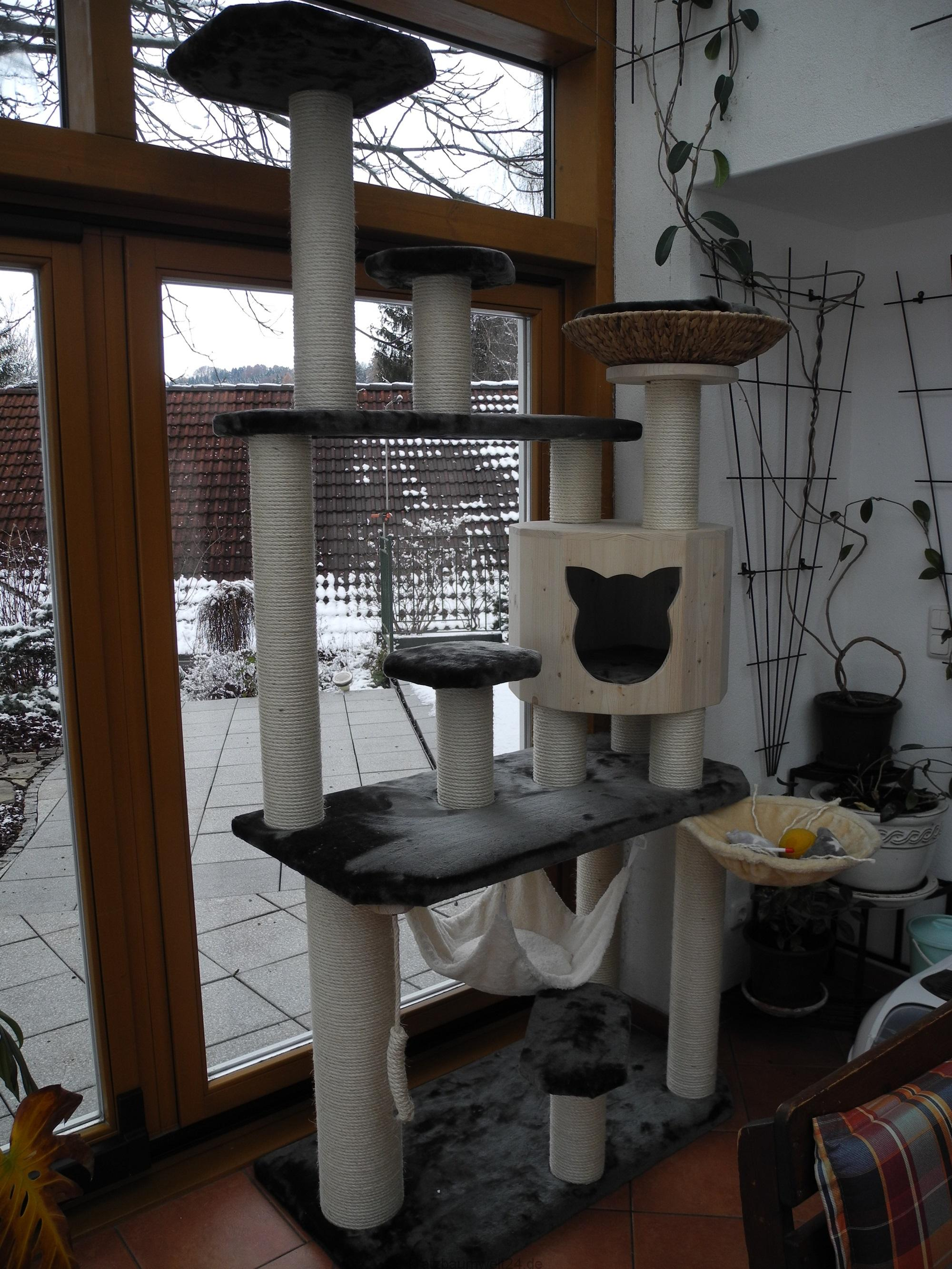 Kratzbaum stabil für große Katzen Massivkratzbaum ...
