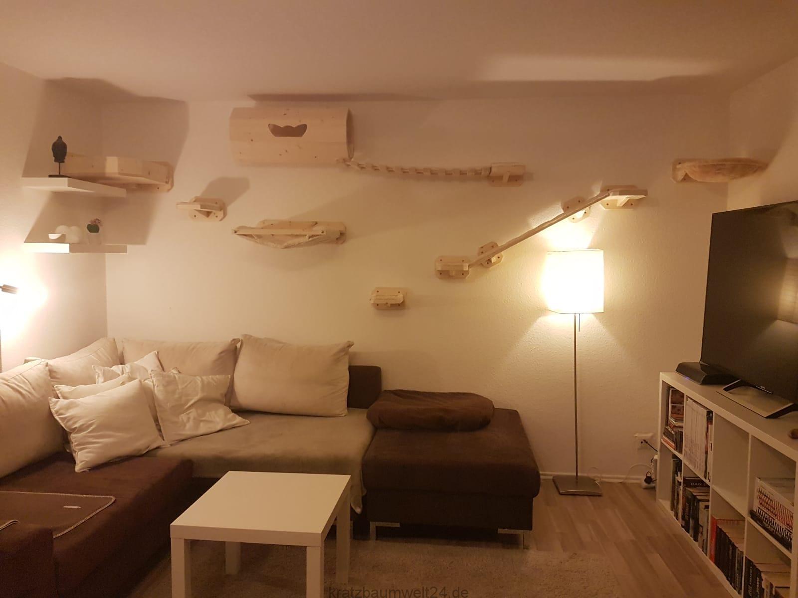 wandkratzbaum catwalk f r katzen kletterparadies f r. Black Bedroom Furniture Sets. Home Design Ideas